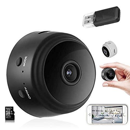 JIC Videocamera spia nascosta, 1080p HD, 4 K, WiFi, per bambini, visione notturna, rilevatore di movimento, registratore video, piccole telecamere di sicurezza per interni ed esterni, colore: nero