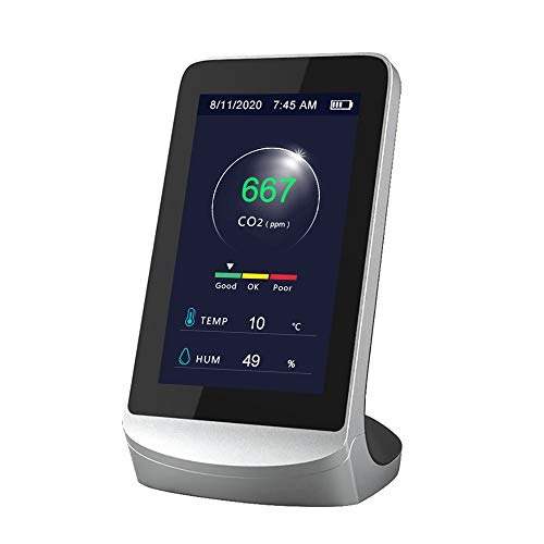 Kecheer Rilevatori di CO2 monitor,Rilevatore di anidride carbonica umidità/temperatura meter,Rilevatore di qualità dell'aria