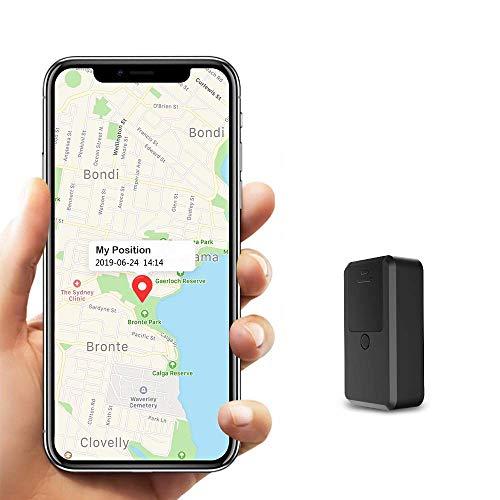 Kimfly - Mini GPS Tracker per bambini, con app gratuita e piccolo localizzatore GPS per auto, bicicletta, anti-calmo, in tempo reale, GPS tracking per borse, portafoglio e zaini