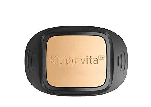 Kippy - Kippy VITA S+ - GPS e Activity Tracker per Cane - Localizzatore per Animali con GPS Tracker - Tabacco e Nero