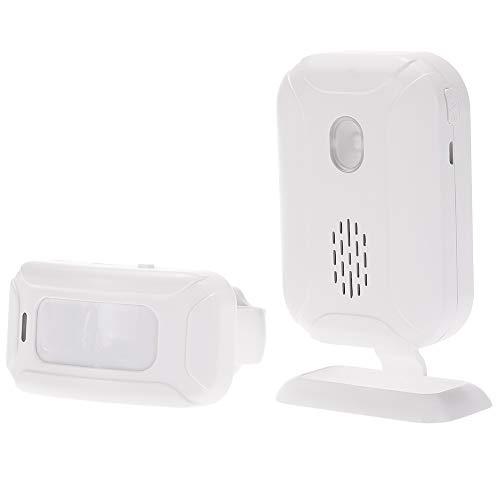 KKmoon Campanello Wireless,Ospite Ricevitore,Rilevamento di Movimento Sensore,PIR Infrarossi Sensore,Luci Colorate a LED,113dB,Portata 280 Metri