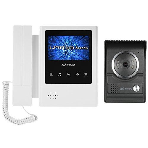 KKmoon Videocitofono Cablata Video Citofoni 4,3 Pollici LCD Monitor Supporto Visione Notturna Audio Bidirezionale Impermeabile Video Door Phone per Sorveglianza Domestica