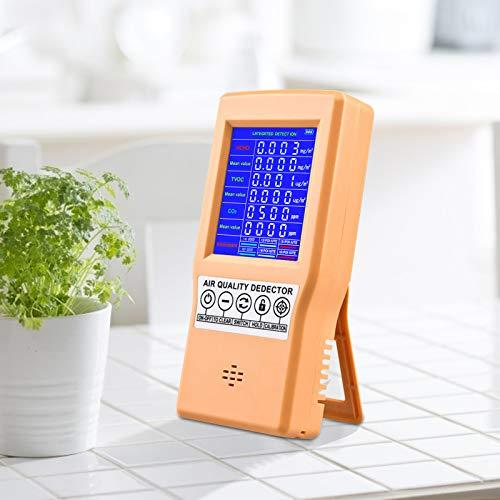 KKTECT Monitoraggio della qualità dell'aria CO2 TVOC HCHO Rilevazione formaldeide Rilevatore AQI piccolo portatile Rilevamento d'aria multifunzionale professionale per casa/vari luoghi