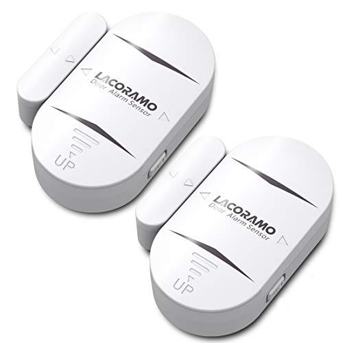 LACORAMO DA-05 Allarme per porte e finestre, sensori wireless per porte - 130 Db e 4 modalità di lavoro - allarme antifurto per la sicurezza domestica (2 Set)
