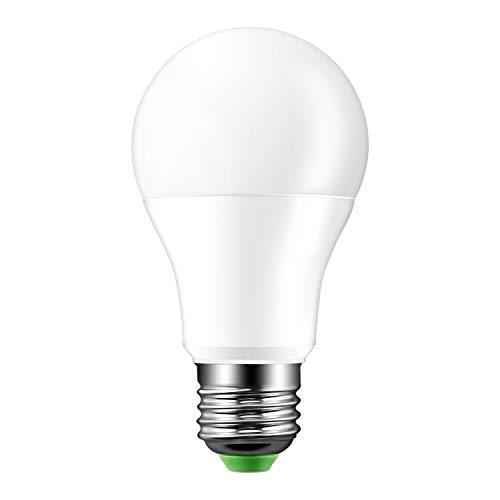 Lampadina notturna, attacco E27, 8 LED, 8 W, a sfera, con sensore crepuscolare, per uso in ambienti esterni, impermeabile, adatta a giardino, cortile e parete, bianco freddo