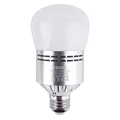 Lampadine con sensore crepuscolare E27 15W Lampadine Bianco freddo 6000K Automatico On/Off per Garage Corridoio Veranda