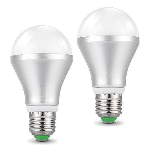Lampadine E27 Led Con Sensore Crepuscolare, 2 pezzi E27 Lampadina Sensor Luce di Bianco freddo 450lm 6500K 5W AC 85-265 V Auto On/Off per Corridoio Portico Garage 2 pezzis