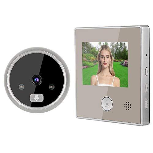Lazmin112 Videocitofono con visore Notturno da 3 Pollici, Videocitofono HD Senza Fili 160 ° grandangolo Zoom 3X Supporto Sistema di Accesso per videocitofono