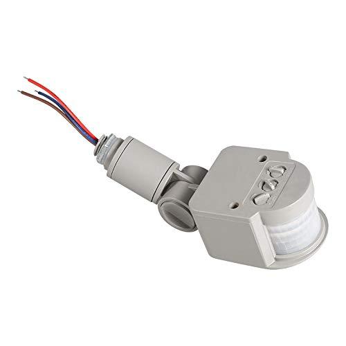 LED Luce Sensore di Interruttore, Esterna 90~250V 180 gradi Umano Infrarosso PIR sensore di movimento Wall Light Interruttore Per LED Luce