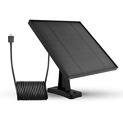 LEICKE Pannello Solare per EZVIZ C3A Telecamere Esterna di Sicurezza IP Wireless Ricaricabile a Batteria, Resistente alle Intemperie, Montaggio Regolabile, Alimentatore | 3,60 m di Cavo