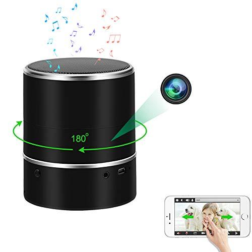LXMIMI Telecamera Nascosta Spia, Lettore Musicale Bluetooth Telecamera Spia, 1080P HD Telecamera Nascosta WiFi con Rotazione Dell'obiettivo a 180° e Rilevamento del Movimento