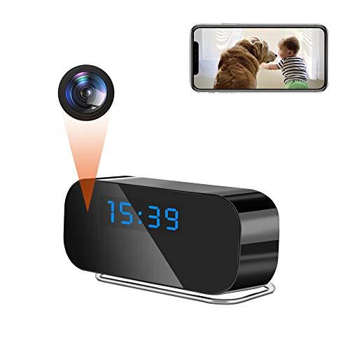 LXMIMI Telecamera Spia, 2.4G WiFi Telecamera Nascosta, 1080P HD Visione Notturna Mini Telecamera, 150° Angolo Ampio Rilevamento del Movimento Microcamera Nascosta con Batteria Ricaricabile Incorporata