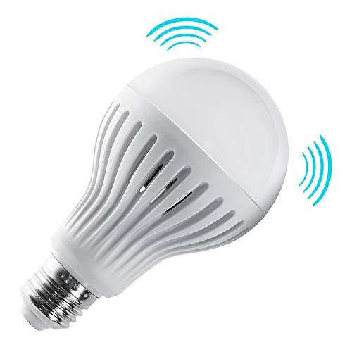 Maclean Energy MCE177 WW Lampadina a LED E27 9W 230V con sensore di Movimento e crepuscolare (9W Freddo)