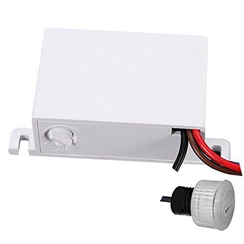 Maclean MCE34 sensore crepuscolare, interruttore crepuscolare, con sensore esterno per esterni, max. 2300 W e IP54