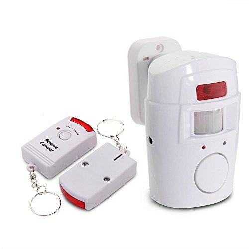 Mengshen® 2 in 1 rivelatore infrarosso senza fili di IR del sensore di movimento di sicurezza Campanello di allarme con 2 telecomando MS-H88