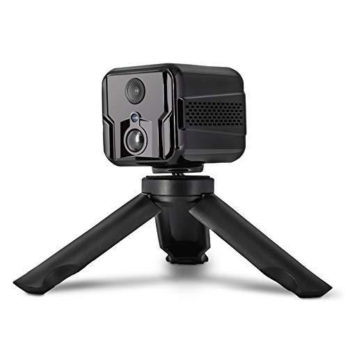 MIHATERU Mini fotocamera con app interna WiFi, lunga batteria, trasmissione live del cellulare, sensore di movimento, visione notturna, audio portatile, discreto, telecamera di sicurezza nascosta