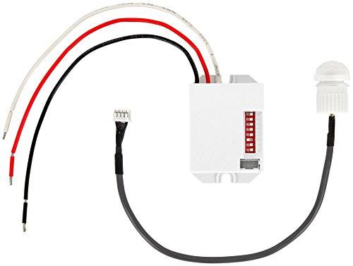 Mini rilevatore di movimento a infrarossi da incasso, 360°, 12 V, 24 V, adatto per LED, carico minimo solo 1 W