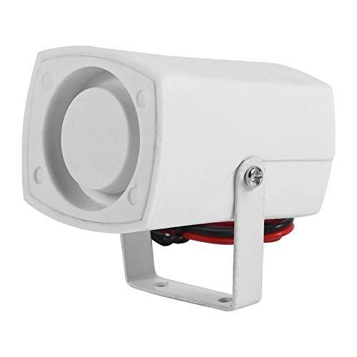 Mini Sirena Cablata da 110dB,Sirena Elettronica Corno D'allarme Sistema di Protezione Allarme di Sicurezza Usato per Indoor, Outdoor, Home, Vehicle