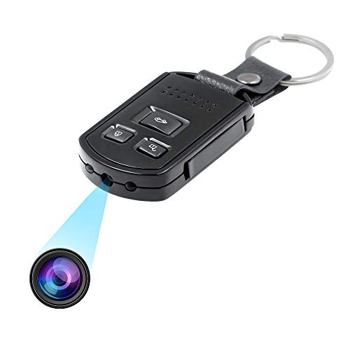 Mini Telecamera Nascosta Chiave Auto Spia Portachiavi Microcamera Occultata TANGMI 1080P HD Rilevamento del Movimento Sorveglianza Sicurezza Domestica Registrazione Audio Tata Cam