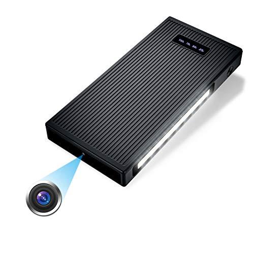Mini Telecamera Spia, Igzyz 10000mAh Videocamera Nascosta 1080P HD Microcamera Spia Visione Notturna Spy Cam con Rilevamento del Movimento Videocamera di Sorveglianza(Include una scheda SD da 32 GB)
