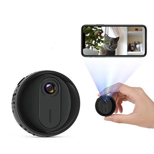 Mini Telecamera,1080P WiFi Mini Portatile Microcamera Micro Sorveglianza con Visione Notturna,Videocamera Sorveglianza Interno Wifi Rilevamento di Movimento,Mini Telecamera Wifi Adatto per interni