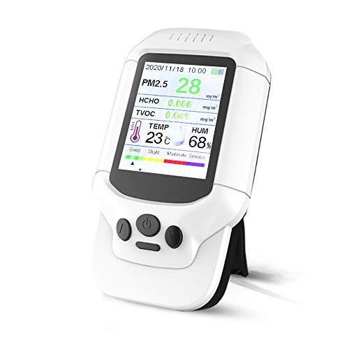 Misuratore della qualità dell'aria,rilevatore di sensore di umidità della temperatura HCHO TVOC PM2.5/PM1.0/PM10 per interni formaldeide