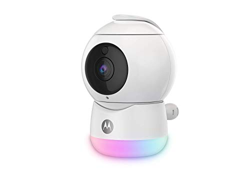 Motorola Baby - Videocamera per Baby Wifi Video Full HD con Luce Notturna - Temperatura, Panoramica, Scansione, Zoom, Inclinazione, Conversazione a 2 vie, Ninne Nanne - locale/cloud - Alexa, bianco