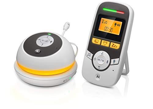 Motorola MBP 169 - Monitor Audio Digitale Portatile con Timer per la Cura del Bambino - Bianco