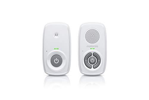 Motorola MBP21 - Babyphone audio, 300 metri di portata, microfono ad alta sensibilità, colore: Bianco