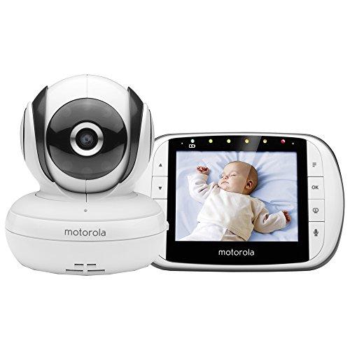 """Motorola MBP36S Baby Monitor con Video Digitale e Schermo LCD a Colori da 3.5"""", Modo Eco e Visione Notturna, Bianco, MBP 36S - 3,5"""""""