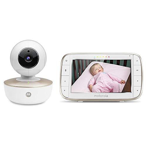 Motorola MBP855 - Connected Baby Video Monitor con Schermo da 5 Pollici e Monitoraggio Internet con Schermo da 5 Pollici e Monitoraggio Internet - Bianco