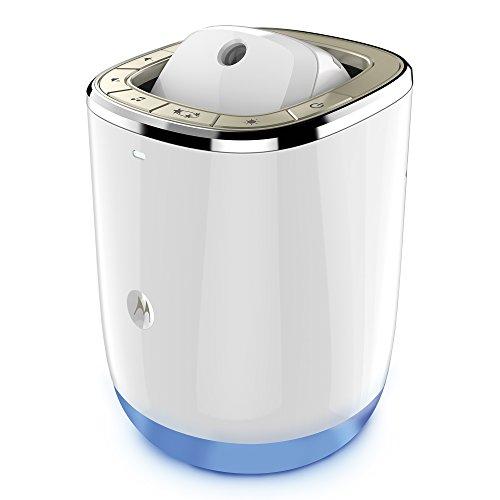 Motorola Smart Nursery Dream Machine - Wi-Fi baby monitor audio e proiettore di suoni e luci con il monitoraggio della temperatura e dell'umidità, bianco