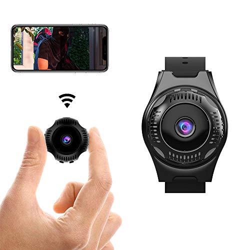 Nanny Cam Mini telecamera di sorveglianza WLAN, FHD 1080P, WiFi, con sensore di movimento e visione notturna a infrarossi, registrazione durante la ricarica, telecamera IP wireless per interni