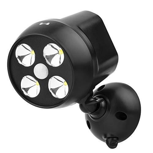 NICREW Faretto LED da Esterno con Sensore di Movimento, Sensore di Movimento per Luci, Luce da Esterno Impermeabile con Sensore di Movimento per Scale, Corridoio, Giardino e Patio (1 Pz)