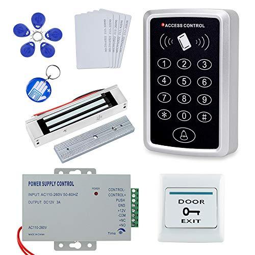 OBO HANDS Kit Completo Completo per Sistema di Controllo Accessi T11 Lettore di Schede + 180KG Magnetico Blocco + Alimentatore + tasto di Uscita + 10PCS ID Key Cards Nominale 5.0/5 Base 2 Recensioni