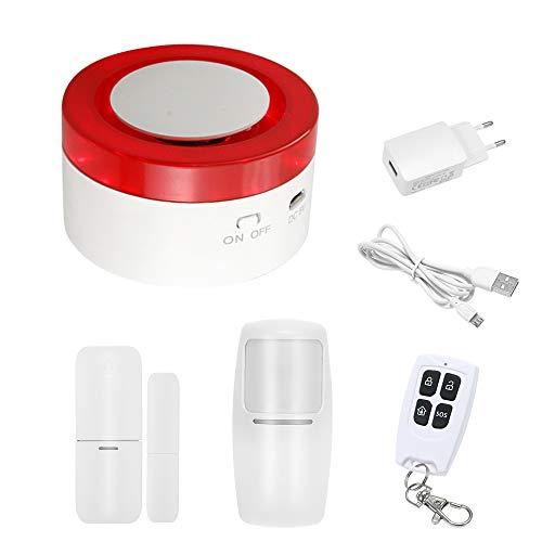 OWSOO 433MHz Wireless WIFI Gateway Host & Siren 2 in 1 WiFi Intelligente Allarme di Sicurezza del Sistema del Sensore del Sensore di Movimento PIR APP Controllo Remoto Compatibile con Amazon Alexa