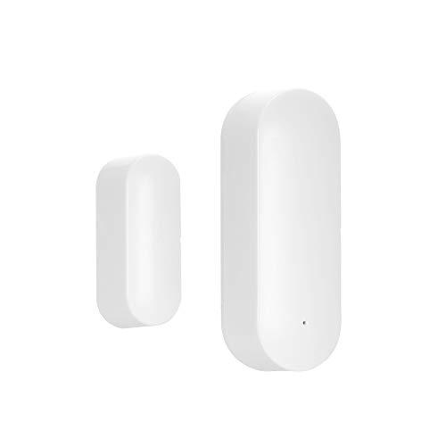 OWSOO Sensore per Porte Senza fili Rilevatore di Intrusione per Porte Smart WiFi Allarme di Sicurezza Domestica Funziona con Amazon Alexa Assistente Google IFTTT o Rokid