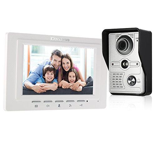 OWSOO Videocitofono 7 Pollici Cablata Video Door Phone Monitor Interno con IR-Cut Impermeabile Telecamera Esterna Citofono Visivo Audio Bidirezionale Videocitofono Sblocco a Distanza