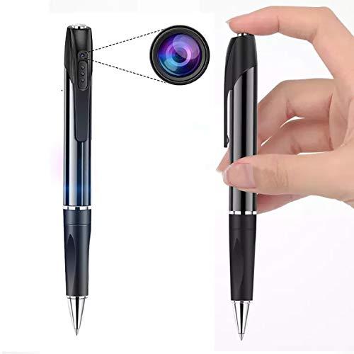 Penna Pen videocamera spia nascosta professionale 1080HD, registratore vocale audio e video. Mini videocamera tascabile con rilevamento di movimento, visione notturna.