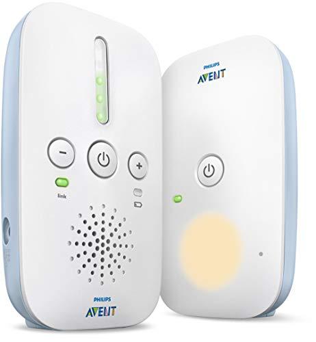 Philips Avent Salute e Controllo SCD503/00 Baby Monitor con Tecnologia DECT Philips, Elimina Interferenze Audio, Portata 330 m, Luce Notturna Rilassante