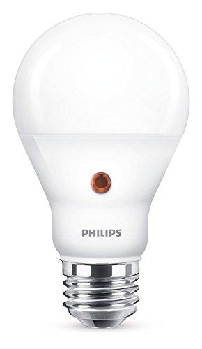 Philips Lampadina LED Goccia, Attacco E27, 7.5 W Equivalenti a 60 W, Sensore Crepuscolare