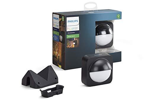 Philips Lighting Hue Sensore di Movimento da Esterno per Accensione e Spegnimento Luci Smart, IP54, Nero