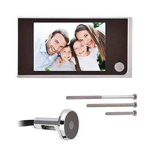 Porta digitale e campanello, telecamera di sorveglianza intelligente (display LCD a colori da 3,5 pollici, mainframe da interno + telecamera spioncino esterna), telecamera HD da esterno (120 gradi)