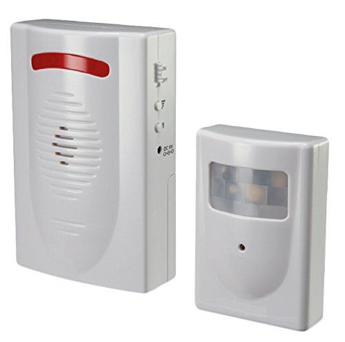 Proxe 560230 Mini Centralina d'Allarme con Rilevatore di Presenza, Bianco