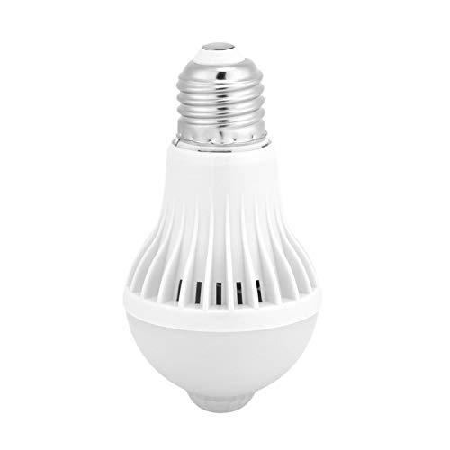 Raguso 1Pcs Lampadina a LED Lampadina a sensore di Movimento a infrarossi Pratica Intelligente in PVC per Bagno nel seminterrato Domestico(9W)