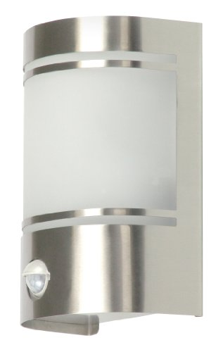 Ranex RA-5000299 Alicante Lampada da Parete con Rilevatore di Movimento, Cromo