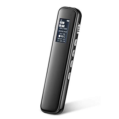 Registratore vocale digitale, iRULU registratore vocale digitale da 16 GB; Registratore di riduzione del rumore PCM stereo HD con riproduzione e attivazione vocale