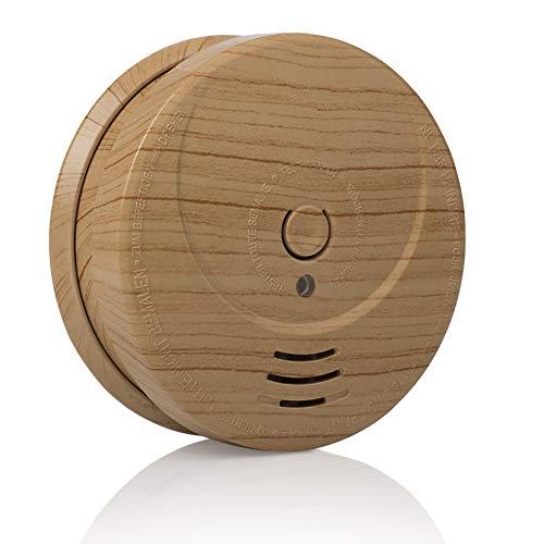 Rilevatore di fumo Smartwares RM149H – Look legno – Batteria inclusa – Pulsante test – 85 dB