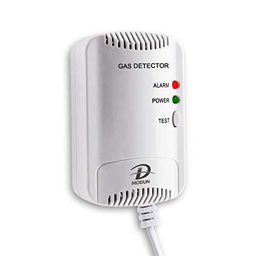 Rilevatore di Gas, Sensore di perdite di Gas Naturale/GPL/Carbone, Monitor di gas Butano Propano Metano, Avviso Luce Stroboscopica, Alarma di gas plug-in adatto per cucina, Casa Mobile, Garage