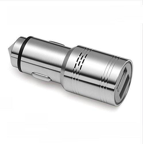 Rilevatore di monossido di carbonio in acciaio INOX Guli 2 porte 2.4 A caricabatteria da auto con sicurezza, multi-funzione di emergenza auto rilevatore di monossido di carbonio